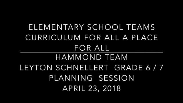School Teams Hammond Elementary Leyton Schnellert April 23 Part 1 Lesson Planning