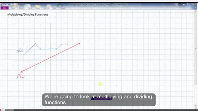 LG17 Multiplying and Dividing Functions