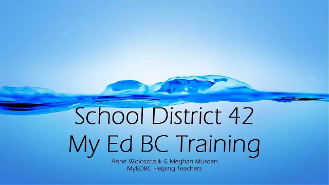 MyEdBC - Entering Secondary Attendance Part 1