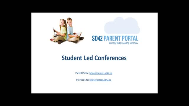 Parent Portal - Student Led Conferences