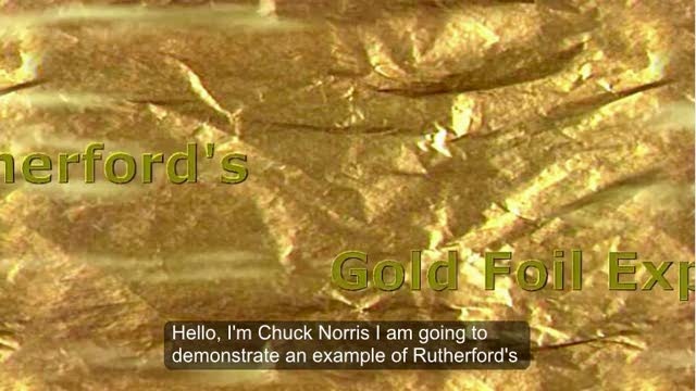 Rutherford's Gold Foil Experiment - Halo 3 style