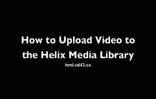 Uploading Inquiry Videos to Helix
