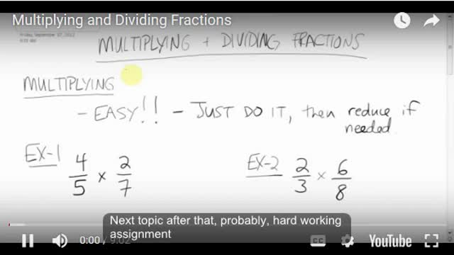 Math 8 Chapter 3.5 Multiplying and Dividing Fractions